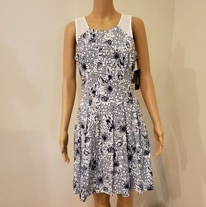 Beautiful Guess New York Navy/White Dress